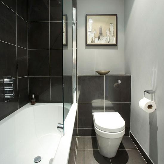 Дизайн ванной комнаты черно-белой